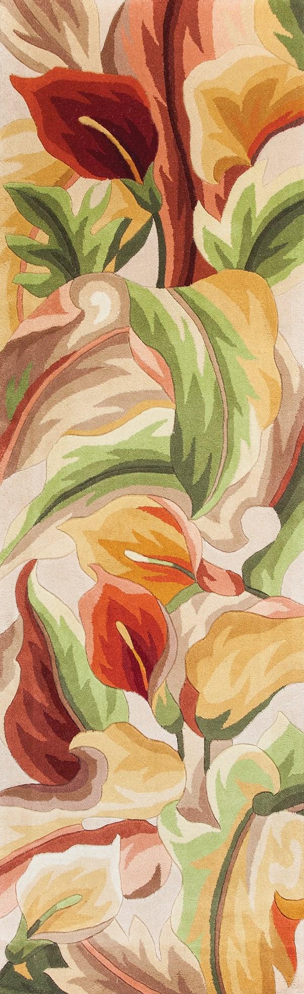 Ivory (758) Floral / Botanical Area Rug
