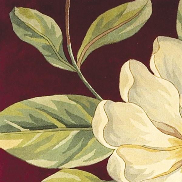 Red (760) Floral / Botanical Area Rug