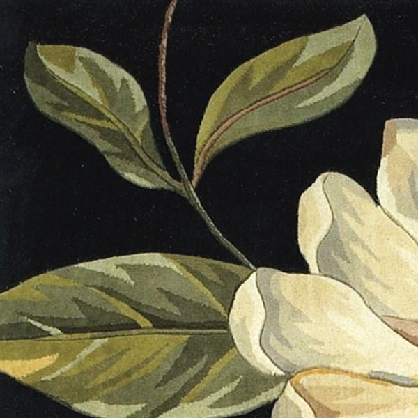 Black (761) Floral / Botanical Area Rug