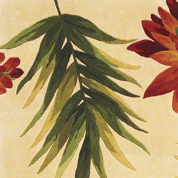 Ivory (780) Floral / Botanical Area Rug