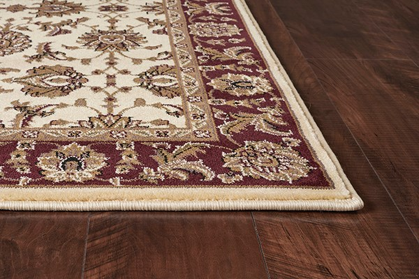 Ivory, Red (7312) Traditional / Oriental Area Rug