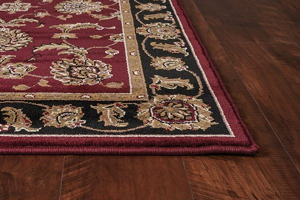 Red, Black (7342) Traditional / Oriental Area Rug