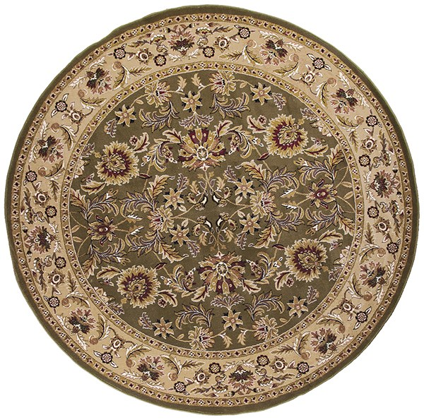 Green, Taupe (7304) Traditional / Oriental Area Rug