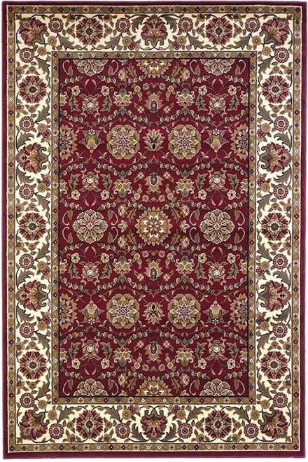 Red, Ivory (7306) Traditional / Oriental Area Rug