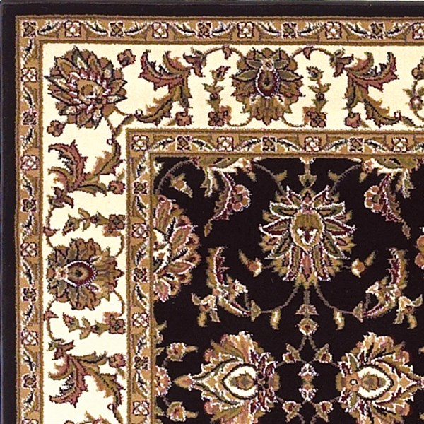 Black, Ivory (7313) Traditional / Oriental Area Rug
