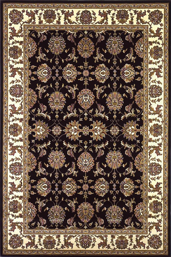 Black, Ivory (7313) Traditional / Oriental Area Rug