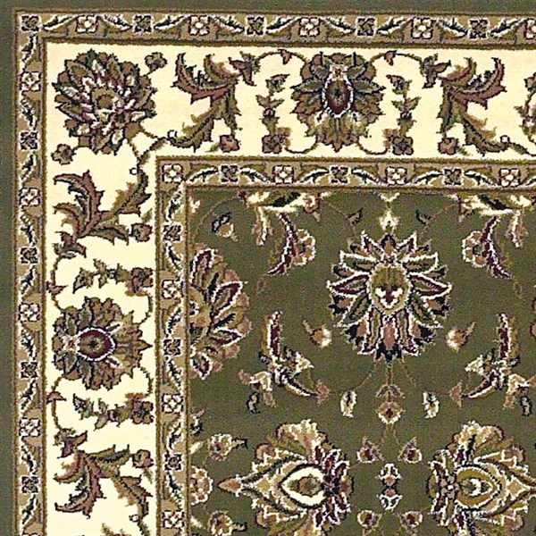 Green, Ivory (7314) Traditional / Oriental Area Rug