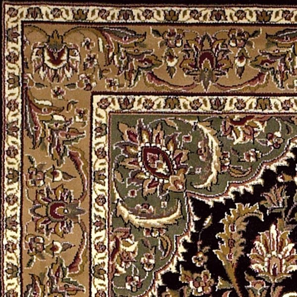 Black, Beige (7327) Traditional / Oriental Area Rug