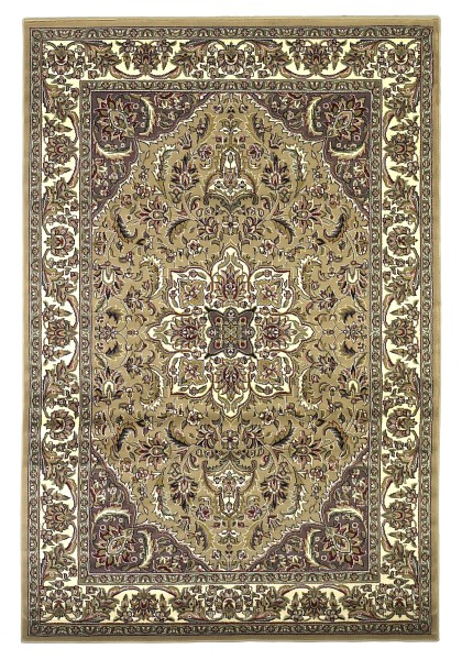 Beige, Ivory (7328) Traditional / Oriental Area Rug
