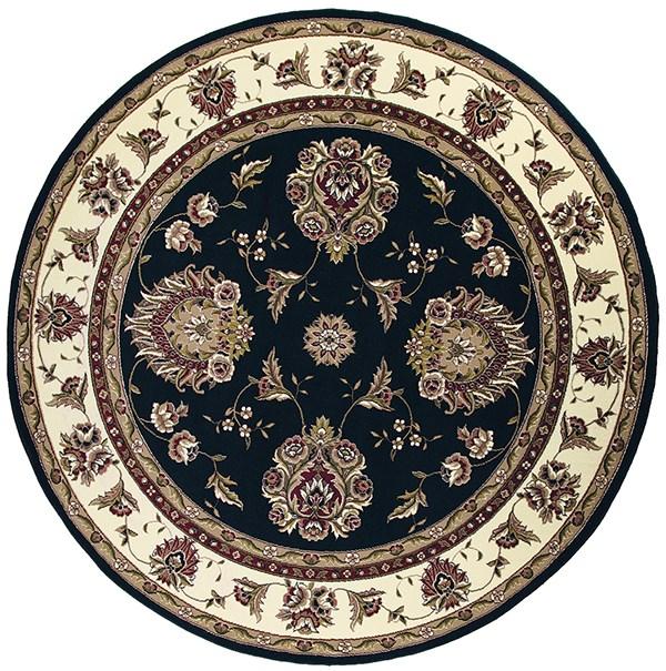 Black, Ivory (7339) Traditional / Oriental Area Rug