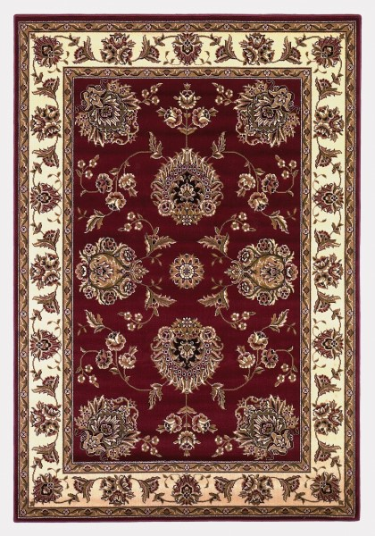 Red, Ivory (7340) Traditional / Oriental Area Rug