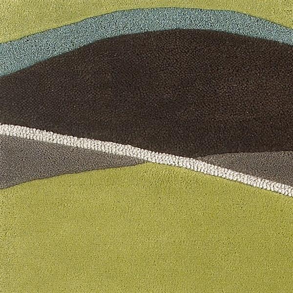 Lime, Mocha (1084) Contemporary / Modern Area Rug