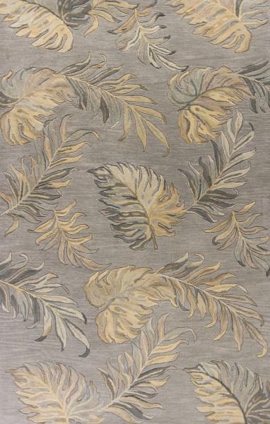 Grey (2639) Floral / Botanical Area Rug