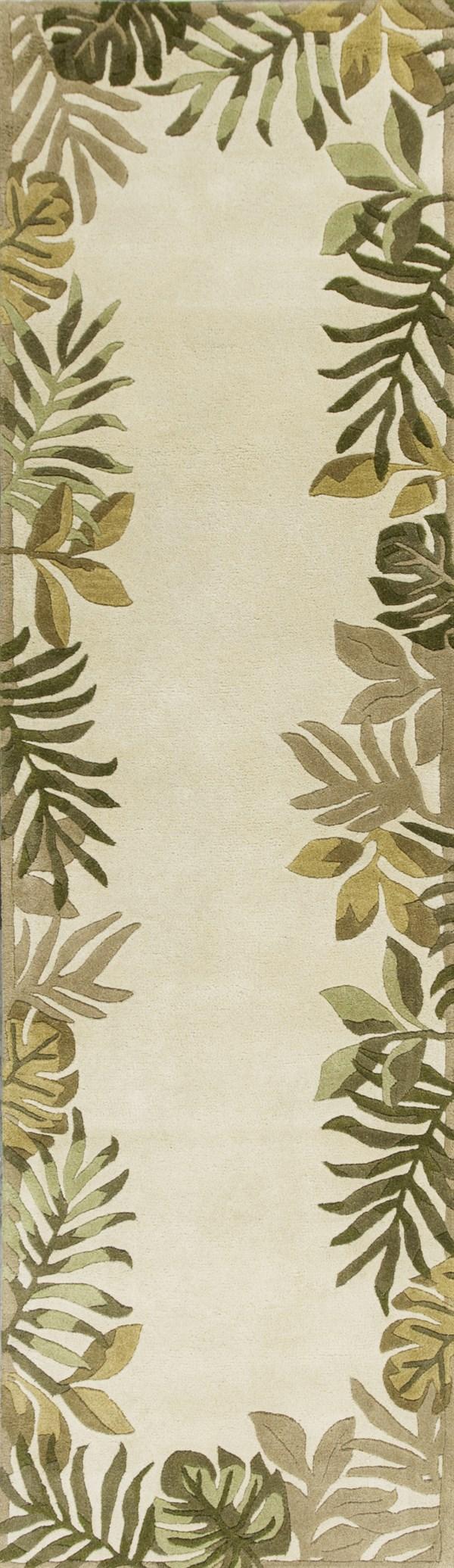 Ivory (2635) Floral / Botanical Area Rug