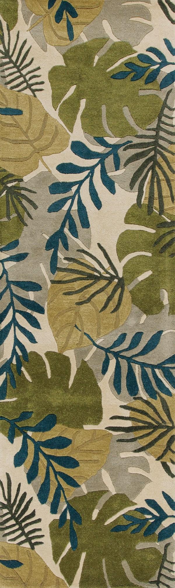 Ivory (2637) Floral / Botanical Area Rug