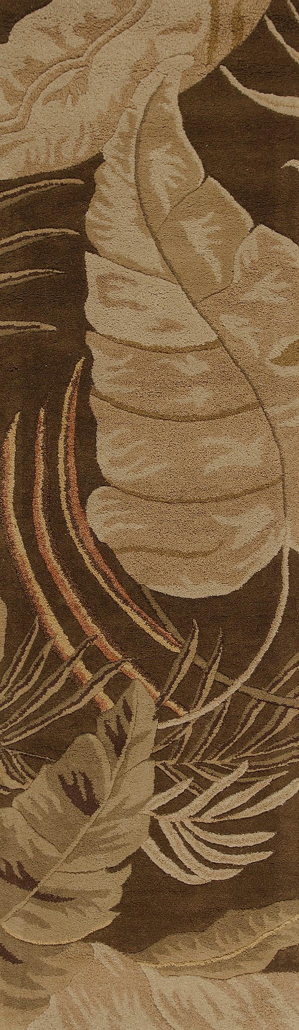 Mocha (2615) Floral / Botanical Area Rug