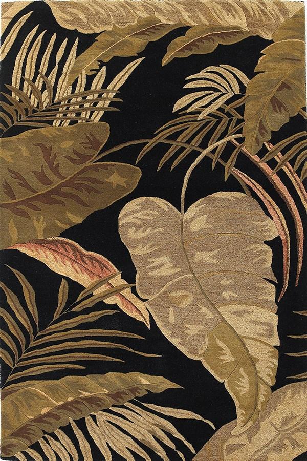 Midnight (2616) Floral / Botanical Area Rug