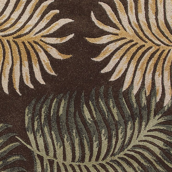 Espresso (2617) Floral / Botanical Area Rug