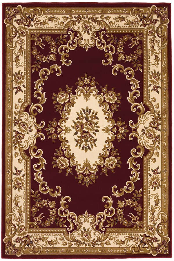 Red, Ivory (5308) Traditional / Oriental Area Rug