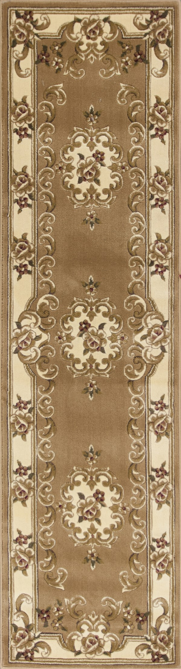 Beige, Ivory (5309) Traditional / Oriental Area Rug