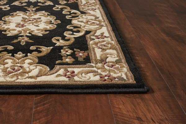 Black, Ivory (5310) Traditional / Oriental Area Rug