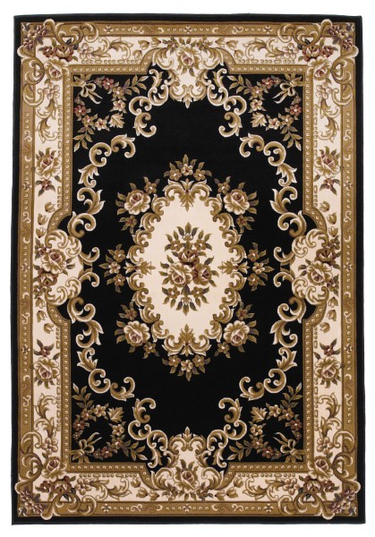 Black, Ivory (5310) Traditional / Oriental Area Rug