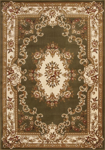 Green, Ivory (5312) Traditional / Oriental Area Rug