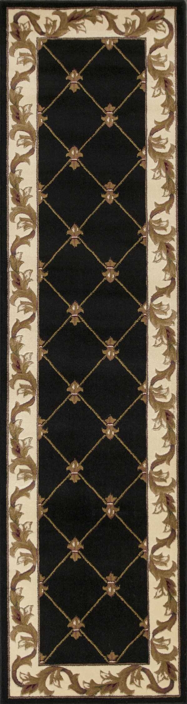 Black (5321) Traditional / Oriental Area Rug