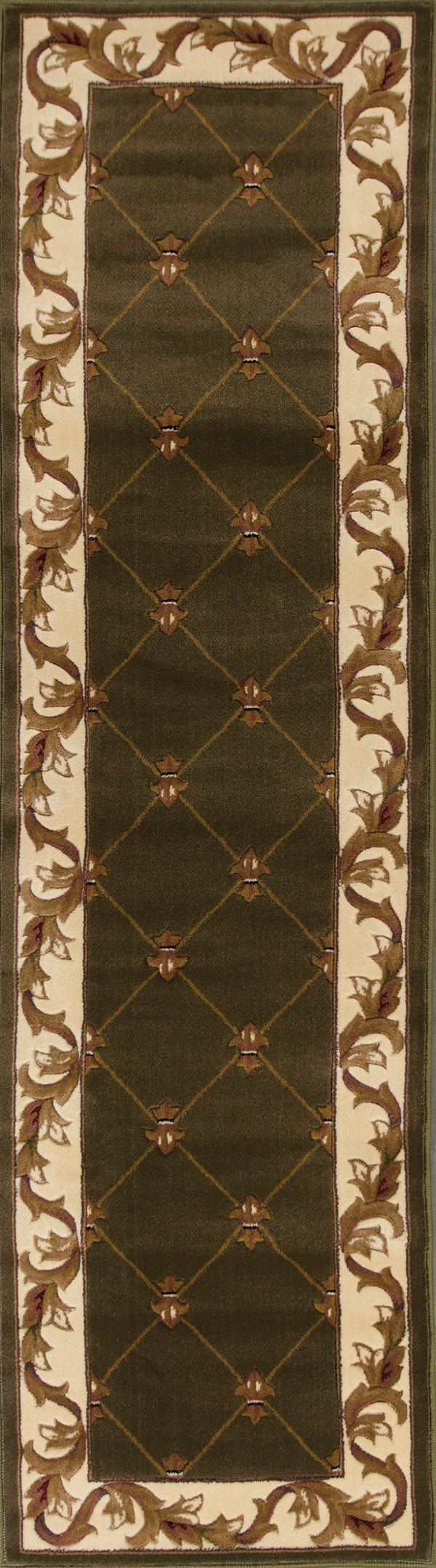 Green (5323) Traditional / Oriental Area Rug