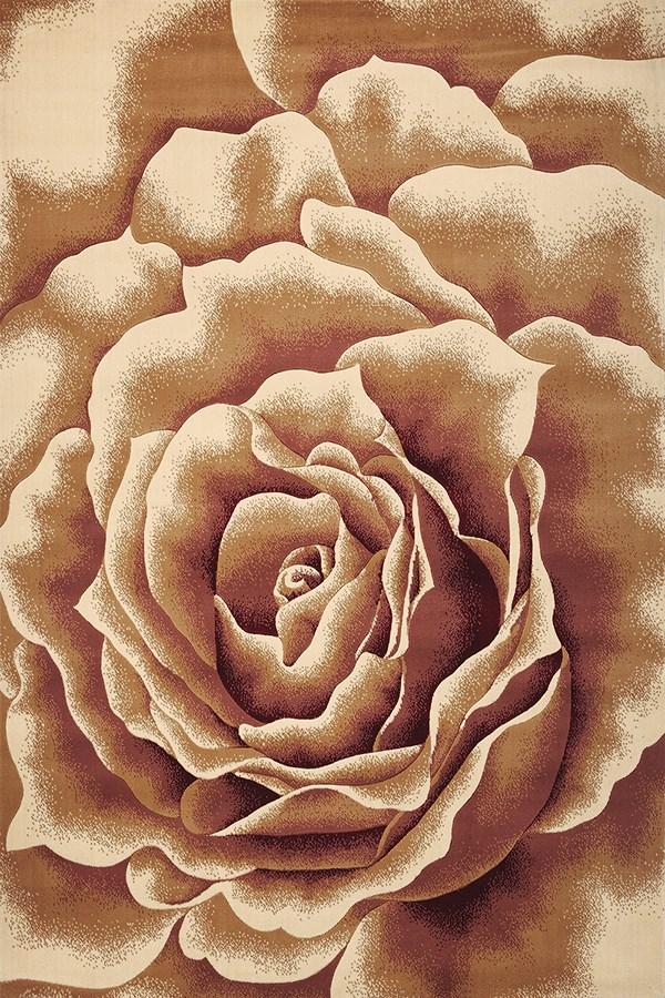 Ivory (5338) Floral / Botanical Area Rug
