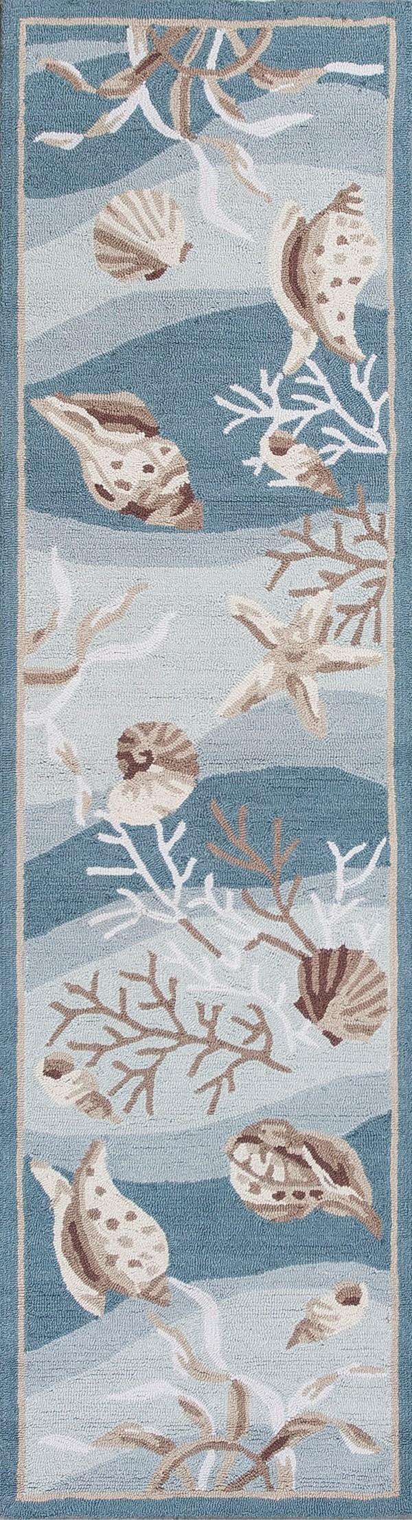 Seafoam (2003) Beach / Nautical Area Rug