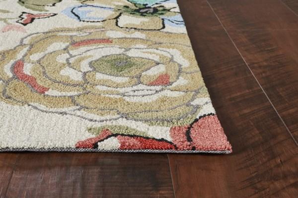 Sand (2039) Floral / Botanical Area Rug