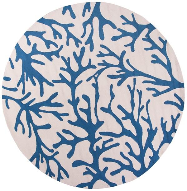 Ivory, Blue (2037) Beach / Nautical Area Rug