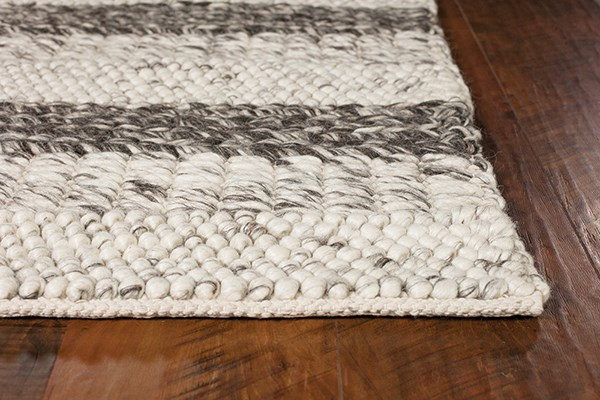 Grey, White (6158) Casual Area Rug
