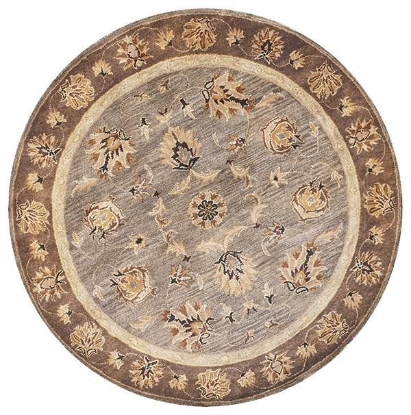 Grey, Mocha (6000) Traditional / Oriental Area Rug