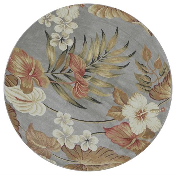 Slate (5460) Floral / Botanical Area Rug