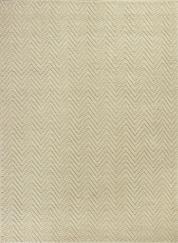 Ivory (1220) Chevron Area Rug