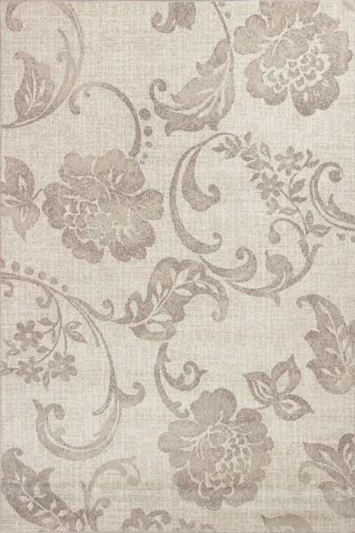 Grey (7421) Floral / Botanical Area Rug
