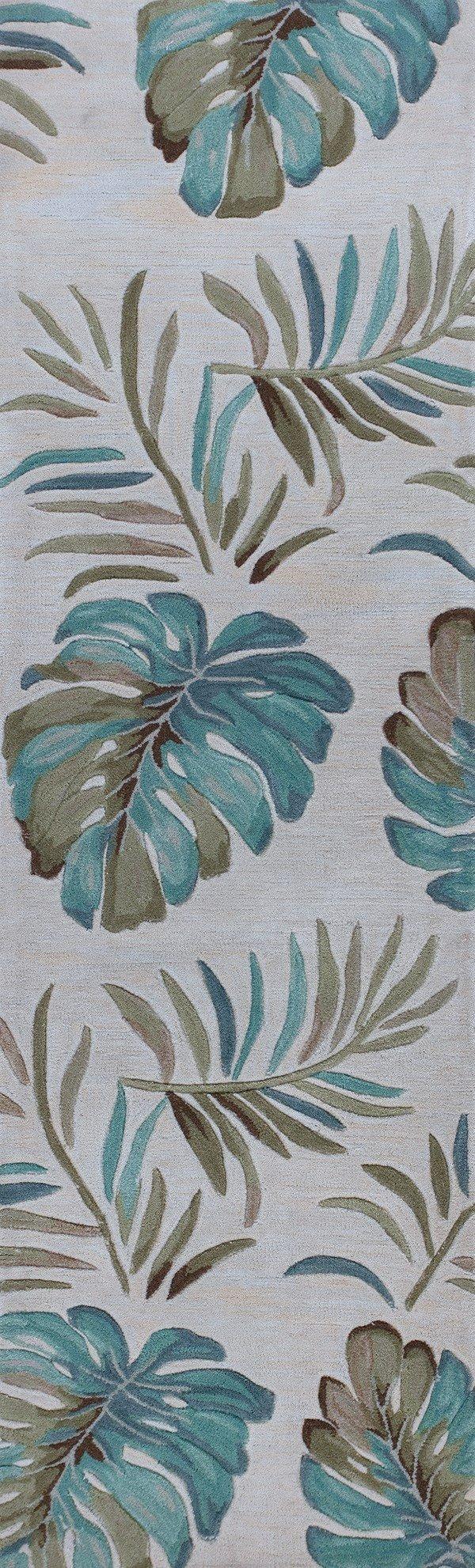 Ivory (4157) Floral / Botanical Area Rug