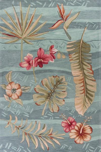 Seafoam (4166) Floral / Botanical Area Rug