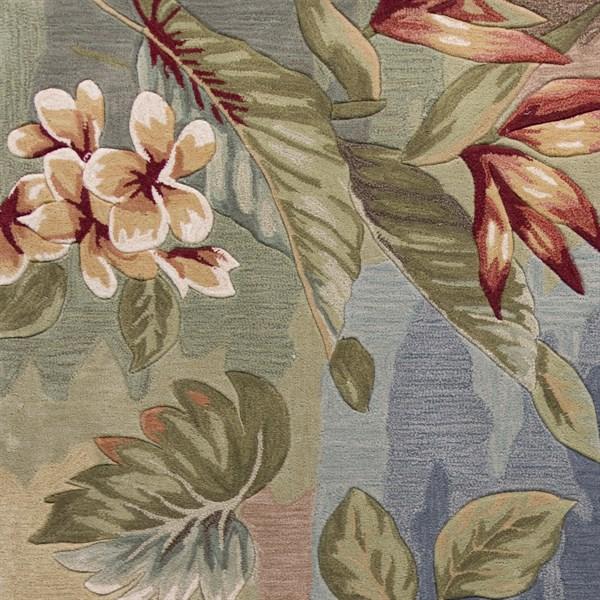 Blue, Sage (4168) Floral / Botanical Area Rug