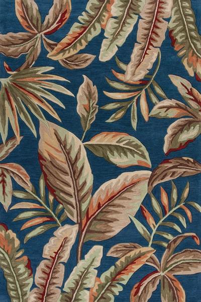 Ink Blue (4163) Floral / Botanical Area Rug