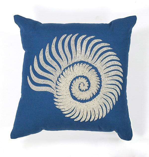 Blue, White (L-111) Beach / Nautical pillow