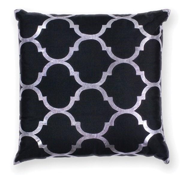 Black (L-300) Moroccan pillow