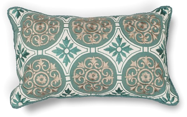 Teal (L-219) Moroccan pillow