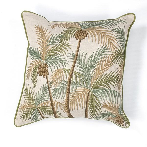 Natural, Green (L-126) Floral / Botanical pillow
