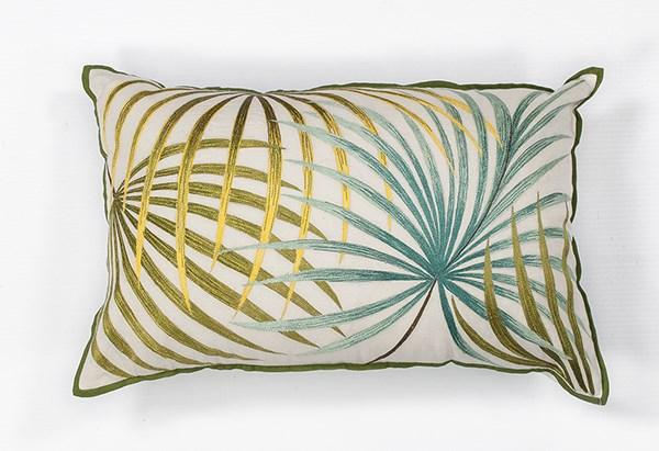 Ivory, Green (L-170) Floral / Botanical pillow