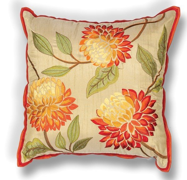 Red (L-173) Floral / Botanical pillow