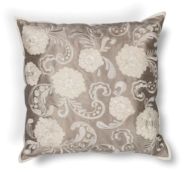 Silver (L-179) Floral / Botanical pillow