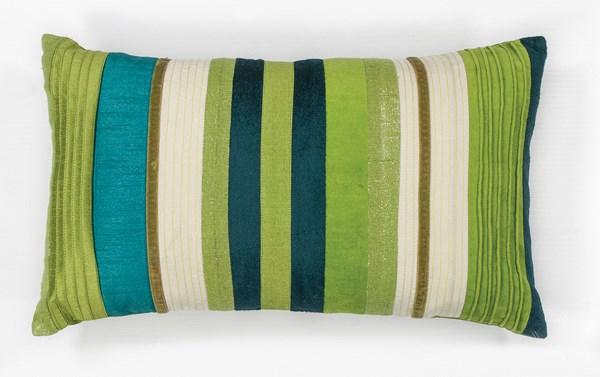 Teal, Blue (L-169) Striped pillow